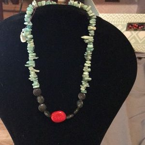 Handmade one of a kind beaded necklace